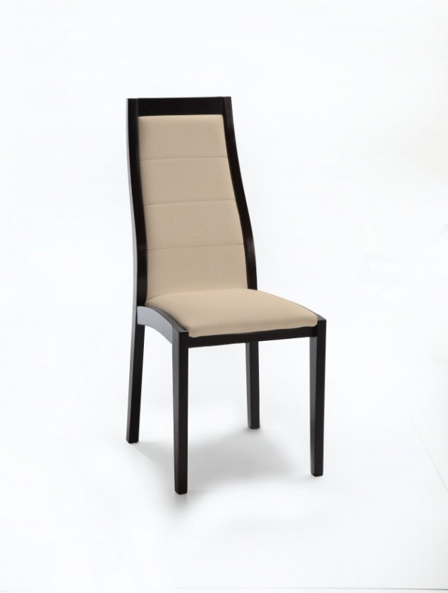 Jídelní židle Floreana (černá / látka carabu béžová)