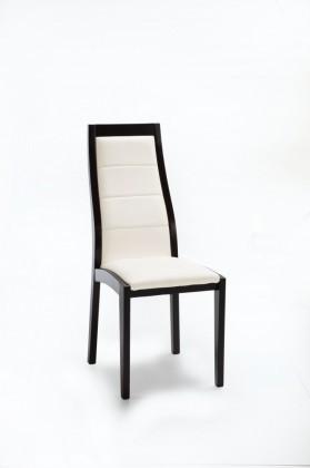 Jídelní židle Floreana (černá / látka navara světle béžová)