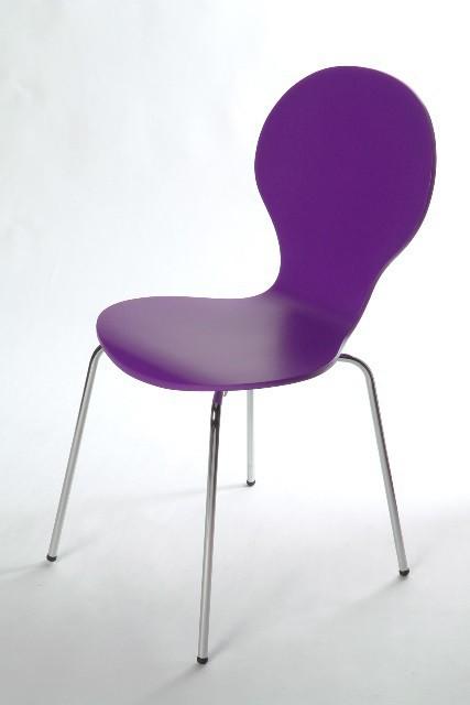 Jídelní židle Flower - Jídelní židle (fialová)