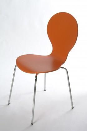 Jídelní židle Flower - Jídelní židle (oranžová)