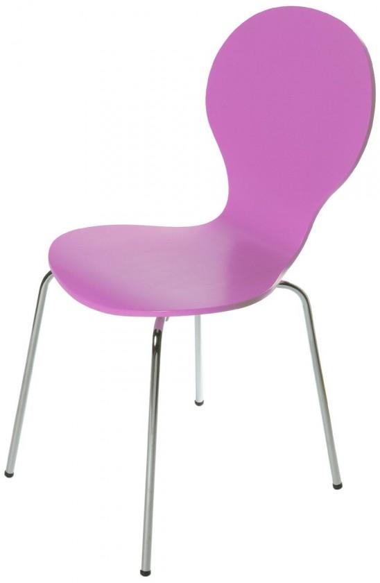 Jídelní židle Flower - Jídelní židle (růžová)
