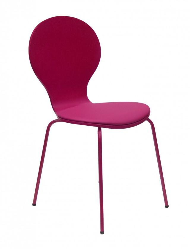 Jídelní židle Flower - Jídelní židle, sedák (fuchsiová, eko kůže)