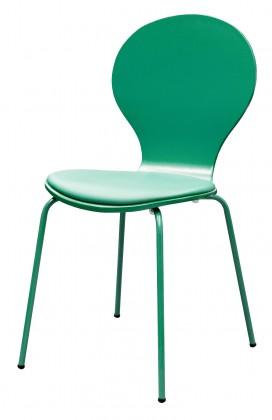 Jídelní židle Flower - Jídelní židle, sedák (jadeitová, eko kůže)