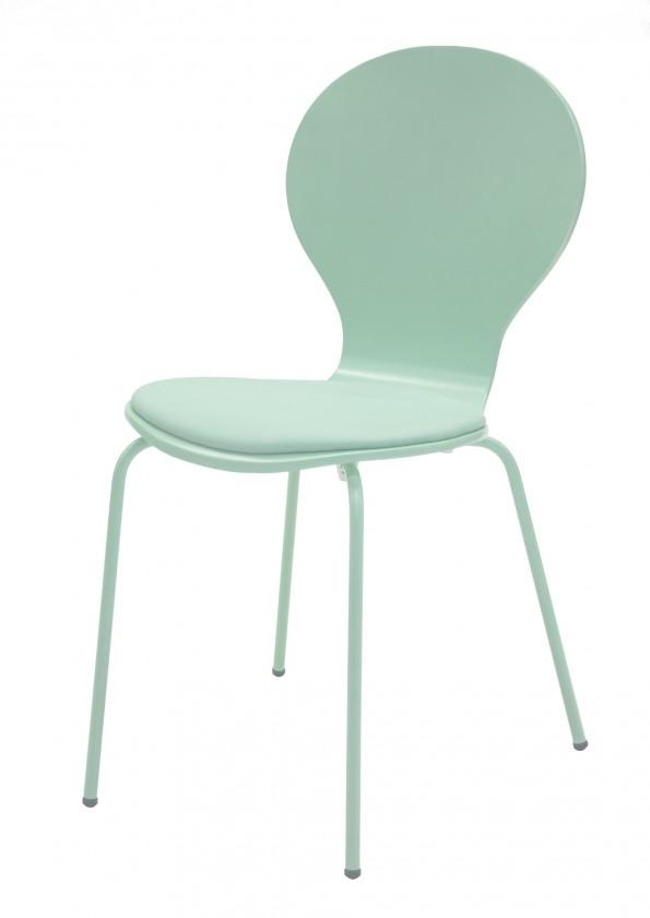 Jídelní židle Flower - Jídelní židle, sedák (mořská zeleň, eko kůže)