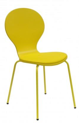 Jídelní židle Flower - Jídelní židle, sedák (žlutá, eko kůže)