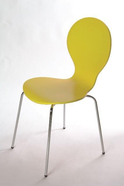 Jídelní židle Flower - Jídelní židle (žlutá)