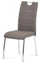Jídelní židle Gasela hnědá/chrom