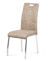 Jídelní židle Gasela krémová/chrom
