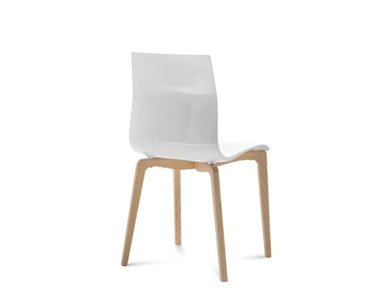 Jídelní židle Gel-L - Jídelní židle (bílá ashwood, bílá)