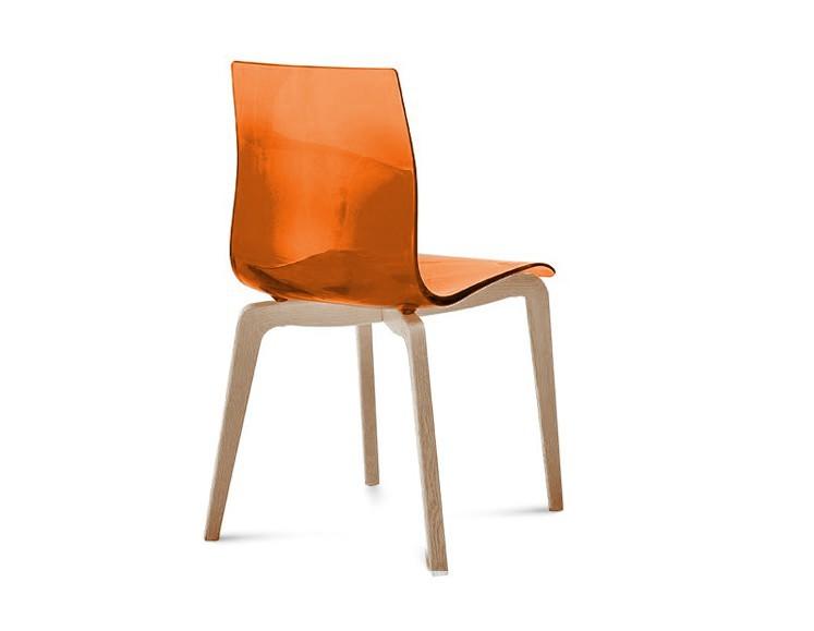 Jídelní židle Gel-L - Jídelní židle (bílá ashwood, oranžová)