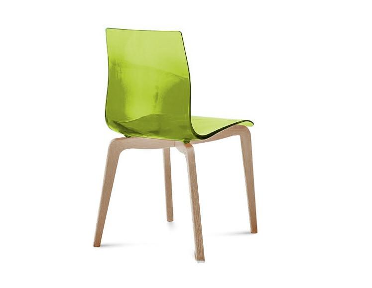 Jídelní židle Gel-L - Jídelní židle (bílá ashwood, zelená)