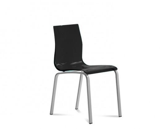 Jídelní židle Gel-R - Jídelní židle (hliník, černá )