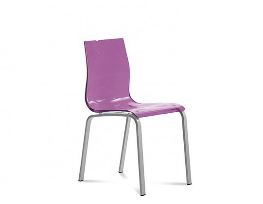 Jídelní židle Gel-R - Jídelní židle (hliník, fialová)