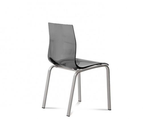 Jídelní židle Gel-R - Jídelní židle (hliník, kouřově šedá)