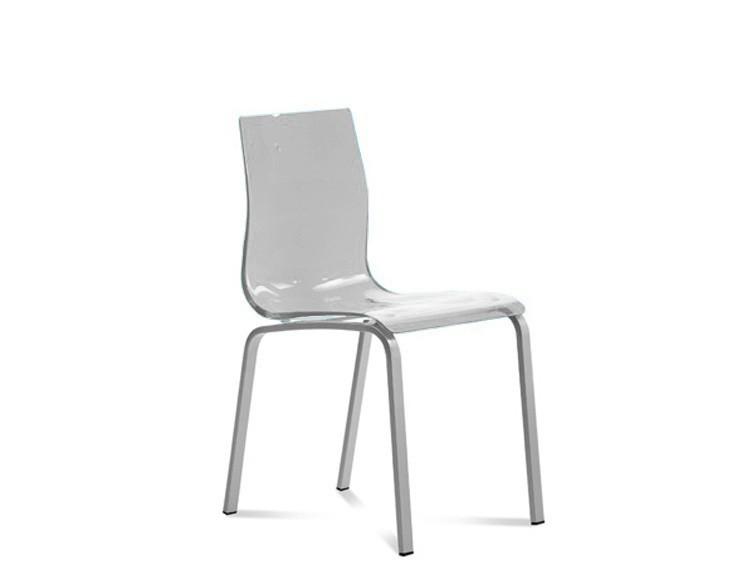Jídelní židle Gel-R - Jídelní židle (hliník, průhledná)