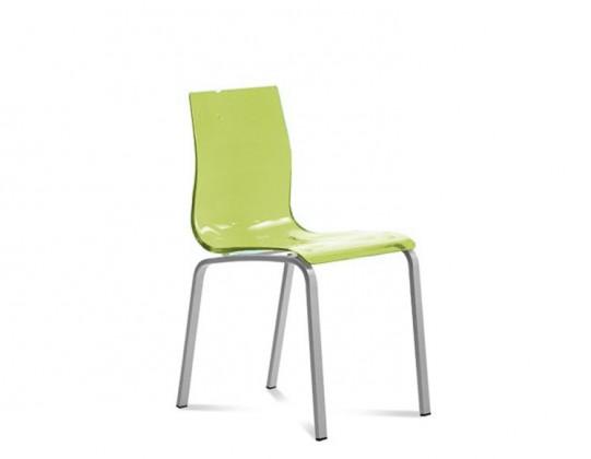 Jídelní židle Gel-R - Jídelní židle (hliník, zelená)