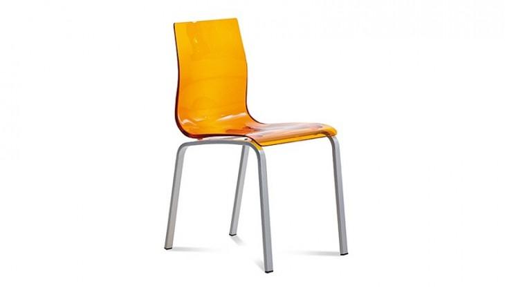 Jídelní židle Gel-r - jídelní židle (oranžová)
