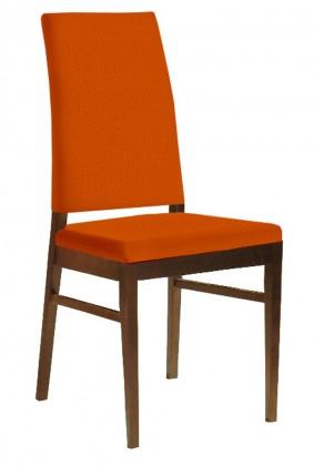 Jídelní židle Genosa  (jasan/carabu oranžová)