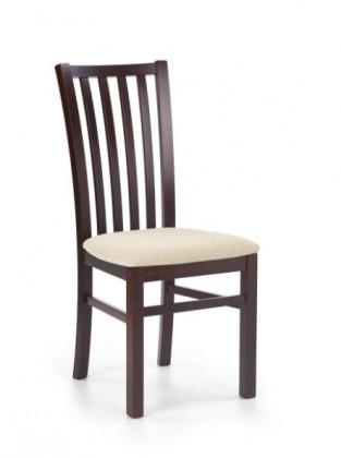 Jídelní židle Gerard 7  (béžová torent beige, ořech tmavý)