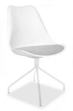 Jídelní židle GINA 9301-413+EGO 9319-801 (bílá,šedá)