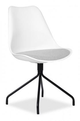 Jídelní židle GINA 9301-413+EGO 9319-824 (bílá,šedá,černá)