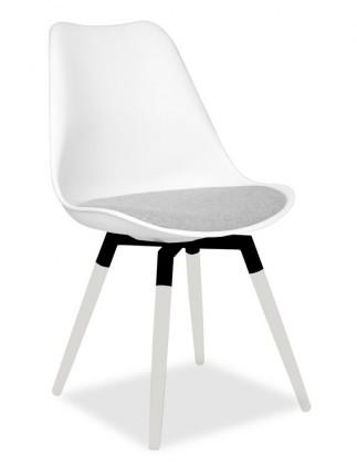 Jídelní židle GINA 9301-413+FIDO 9315-101 (bílá,šedá,černá)