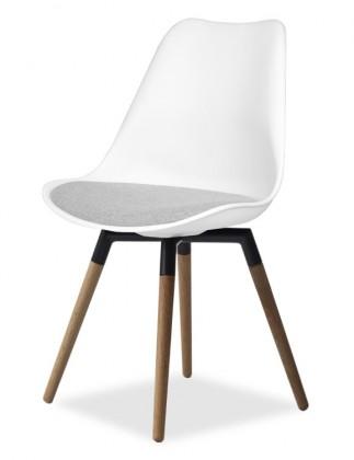 Jídelní židle GINA 9301-413+FIDO 9315-154 (bílá,šedá,čerá,dub)