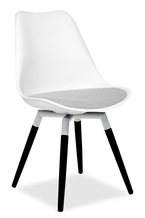 Jídelní židle GINA 9301-413+FIDO 9315-424 (bílá,šedá,černá)