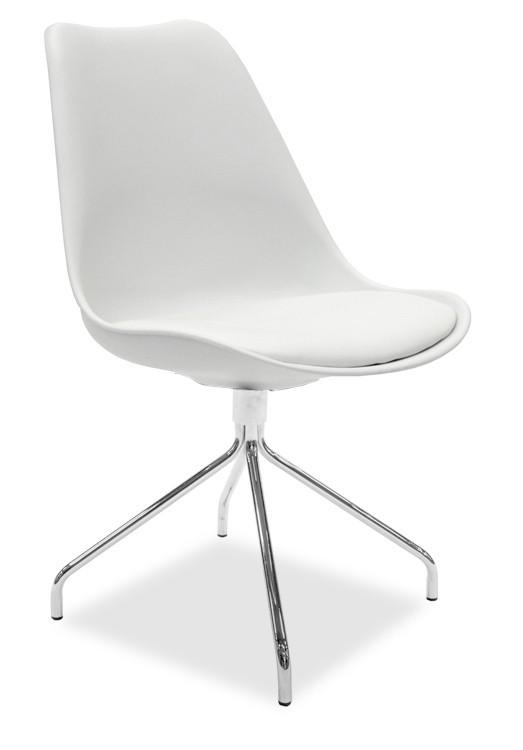 Jídelní židle GINA 9301-801+EGO 9319-091 (bílá,chrom)