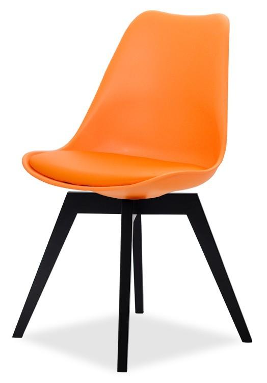 Jídelní židle GINA 9301-817+BESS 9317-024 (oranžová,černá)