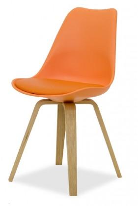 Jídelní židle GINA 9301-817+ELLA 9318-054 (oranžová,dub)