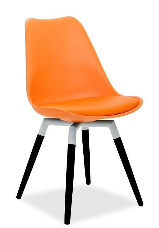 Jídelní židle GINA 9301-817+FIDO 9315-101 (oranžová,bílá,černá)