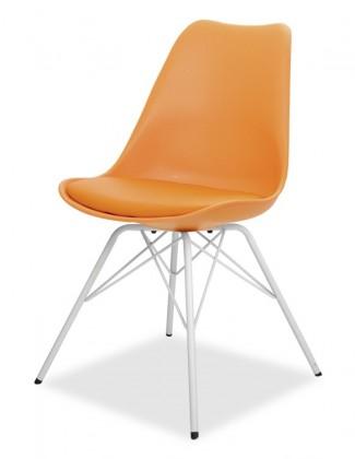 Jídelní židle GINA 9301-817+PORGY 9316-801 (oranžová,bílá)
