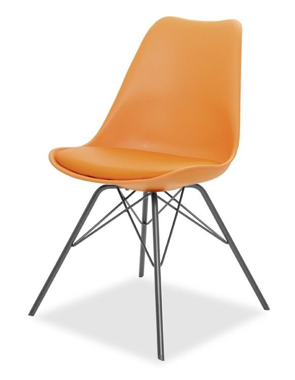 Jídelní židle GINA 9301-817+PORGY 9316-824 (oranžová,černá)