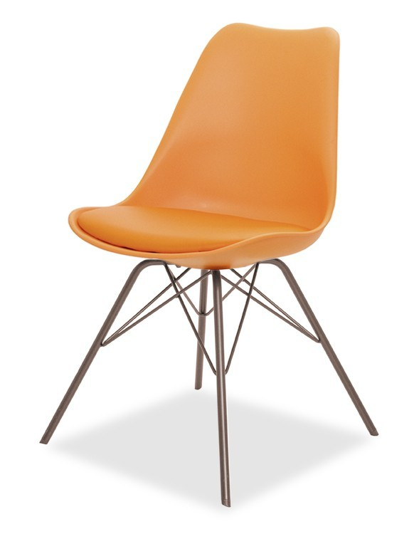 Jídelní židle GINA 9301-817+PORGY 9316-888 (oranžová,bronz)