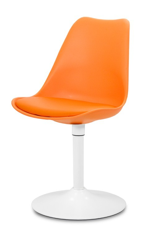 Jídelní židle GINA 9301-817+TRUMPET 9341-801 (oranžová,bílá)