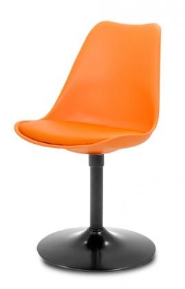 Jídelní židle GINA 9301-817+TRUMPET 9341-824 (oranžová,černá)