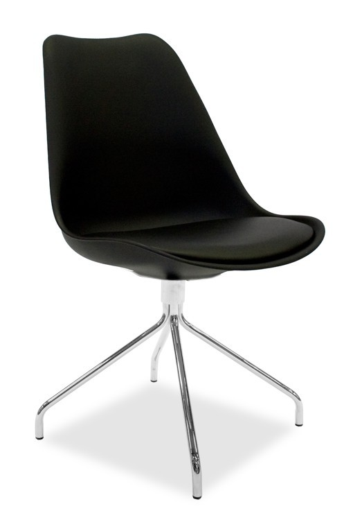 Jídelní židle GINA 9301-824+EGO 9319-091 (černá,chrom)
