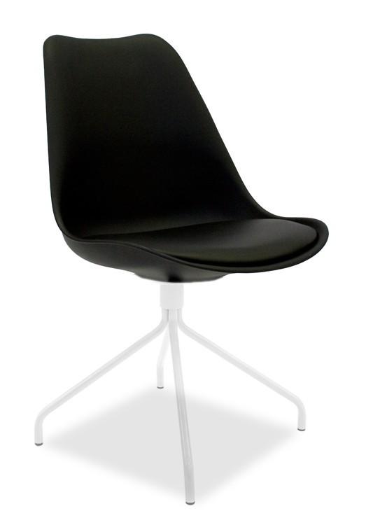 Jídelní židle GINA 9301-824+EGO 9319-801 (černá,bílá)