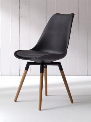 Jídelní židle GINA 9301-824+FIDO 9315-154 (černá,dub)