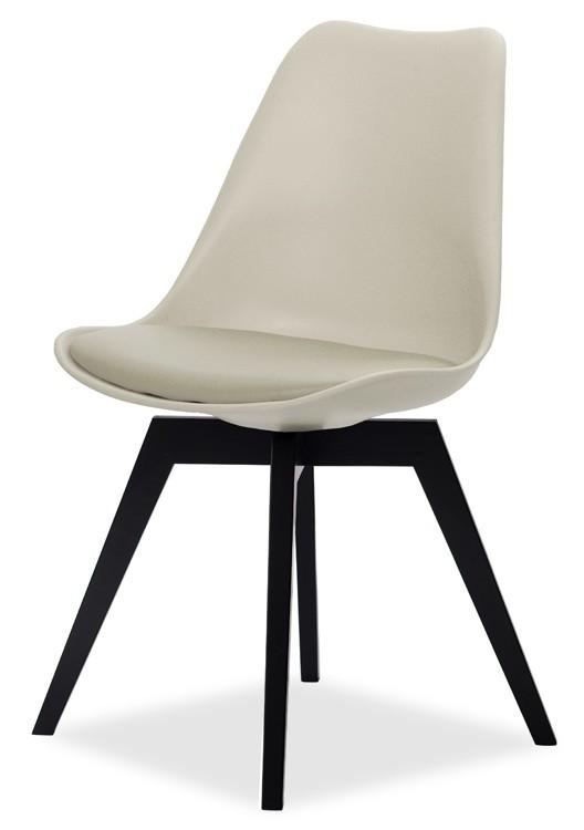 Jídelní židle GINA 9301-883+BESS 9317-024 (béžová,černá)
