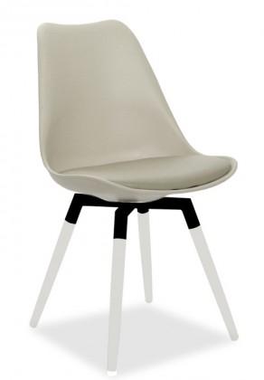 Jídelní židle GINA 9301-883+FIDO 9315-101 (béžová,bílá,černá)