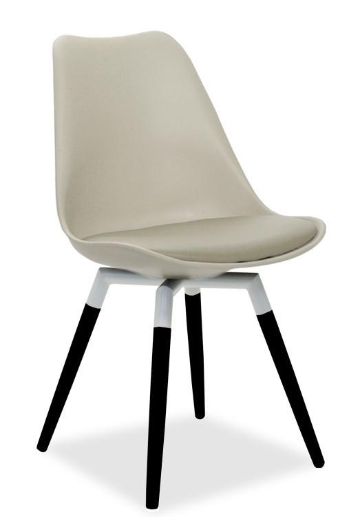 Jídelní židle GINA 9301-883+FIDO 9315-424 (béžová,bílá,černá)