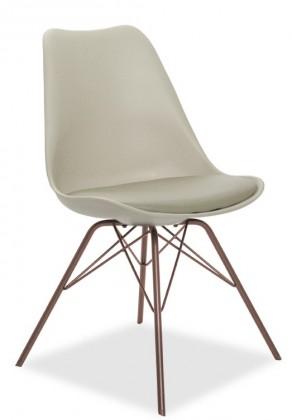 Jídelní židle GINA 9301-883+PORGY 9316-888 (béžová,bronz)