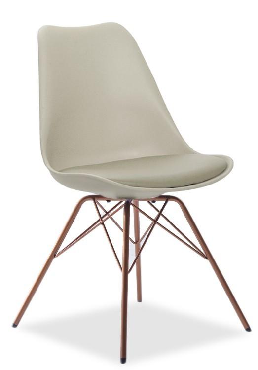 Jídelní židle GINA 9301-883+PORGY 9316-889 (béžová,měď)