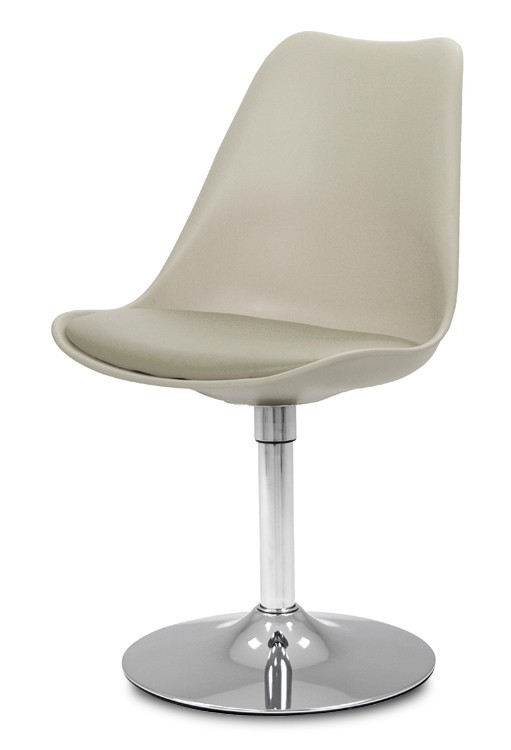 Jídelní židle GINA 9301-883+TRUMPET 9341-091 (béžová,chrom)