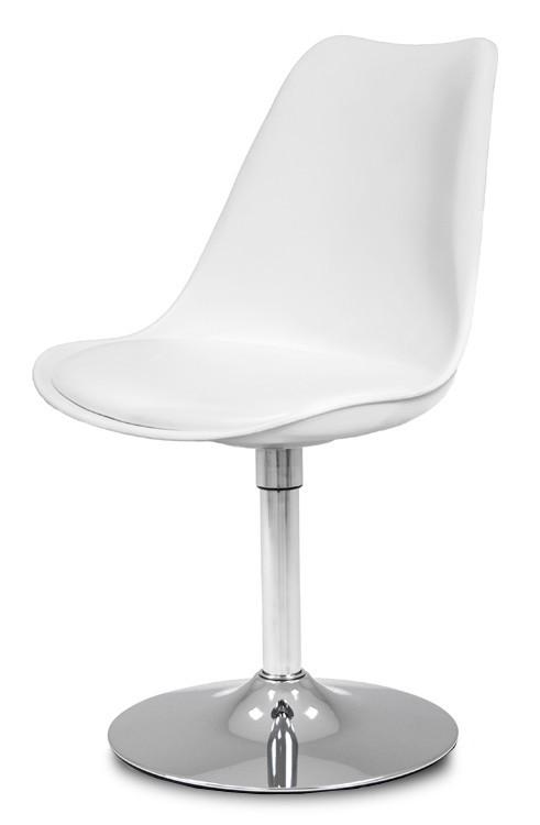 Jídelní židle GINA 9361-801+TRUMPET 9341-091 (bílá,chrom)