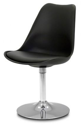 Jídelní židle GINA 9361-824+TRUMPET 9341-091 (černá,chrom)
