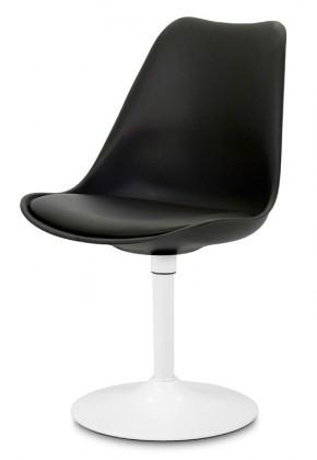 Jídelní židle GINA 9361-824+TRUMPET 9341-801 (černá,bílá)