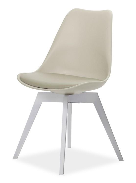 Jídelní židle GINA 9361-883+BESS 9347-001 (béžová,bílá)